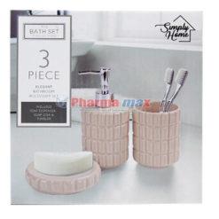 Simply Home Elegant Bathroom Accessory Set 3pcs #47771