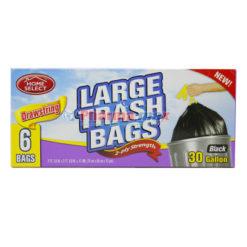 Home Select Large Trash Bags 6-30gl