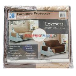 K Home Loveseat  Protector Camel Brown