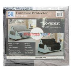 K Home Protector Loveseat Black Gray
