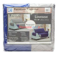 K Home Loveseat  Protector Navy Gray