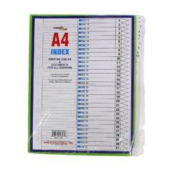 AC INDEX SHEETS A4 1-31