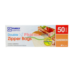 Family Essentials Double Zipper Sandwich 50ct