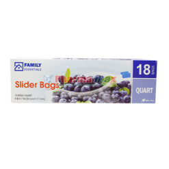 Family Essentials Slider Bag Quart 18ct