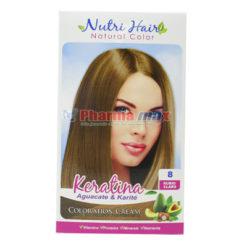Nutri Hair Keratina Coloration Cream Rubio Claro 8
