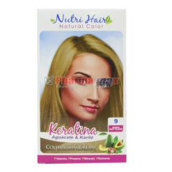 Nutri Hair Keratina Coloration Cream Rubio Muy Claro 9