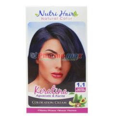 Nutri Hair Keratina Coloration Cream Negro Azulado 1.1