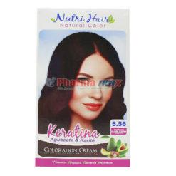 Nutri Hair Keratina Coloration Cream Castano Claro Caoba Rojizo 5.56