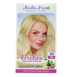 Nutri Hair Keratina Coloration Cream Rubio Extra Claro 10