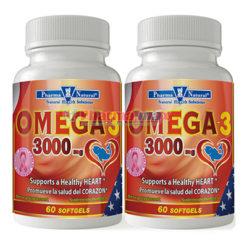Pharma Natural Omega-3 3000mg 2-60 Softgels
