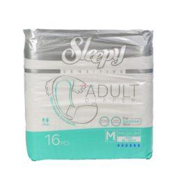 SLEEPY ADULT DIAPER MED 16pc