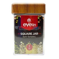 Evelin Square Jar 1 lt