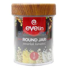 Evelin Round Jar 1lt