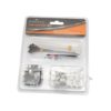 KINGMAN CABLE TIES&CLIPS 80pc